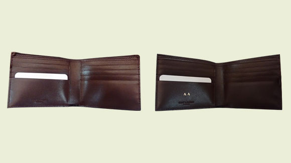 Cutomise leather wallet